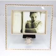 Elegance – Cadre photo 6 x 4 po rose étincelant avec cristaux