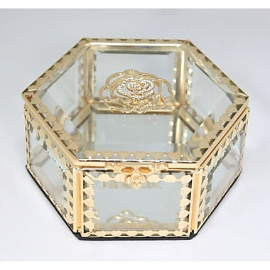 Elegance Glitzy Rose Crystal Jewellery Box