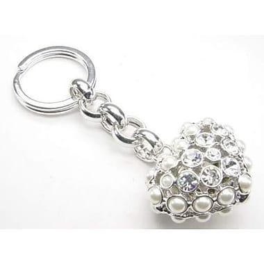 Elegance Pearl Heart Shaped Key Fob