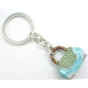 Elegance Green Handbag Shaped Key Fob