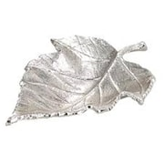 Elegance Nickel Plated Maple Leaf Dish