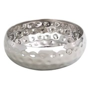 "Elegance 12"" Bolt Hammered Stainless Steel Salad Bowl"