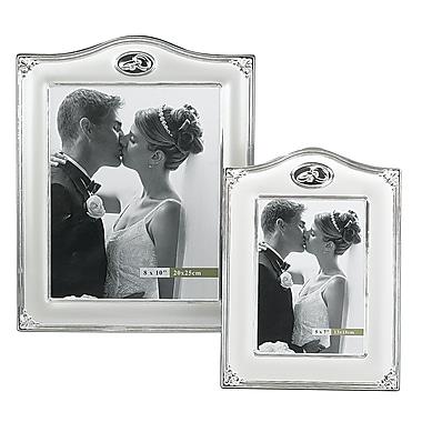 Elegance – Cadre photo de mariage orné de cristaux, 8 x 10 po
