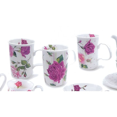 Roy Kirkham Lancaster Mug, Rose Du Temps, Set of 6