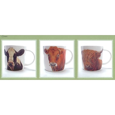 Roy Kirkham Sophie Mug, Farm Animal Cows, Set of 6