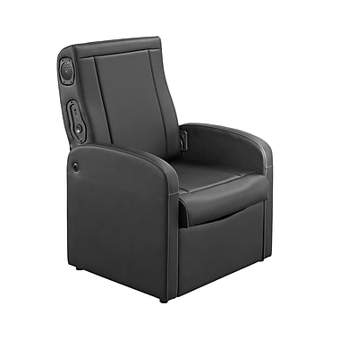 Level Up/Whalen 2-in-1 Ottoman Gaming Chair, Black (GS-PUOT-BT2)