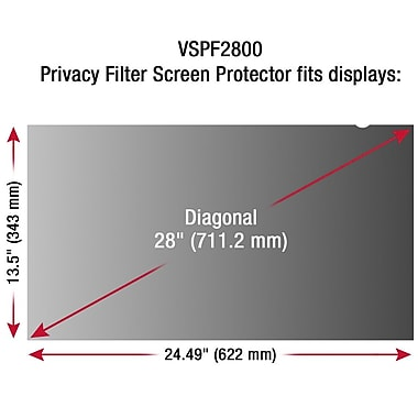 ViewSonic VSPF2800 Privacy Screen Filter Screen Protector for 28