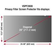 ViewSonic – Protecteur et filtre de confidentialité pour écrans larges ACL (16:9) de 28 po VSPF2800