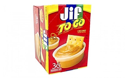 Jif To Go Peanut Butter Dipping Cups, 36 Count 2402588
