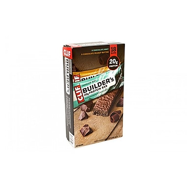 Clif Builder's 20g Protein Bar Variety Pack, 2.4 oz, 18 Count