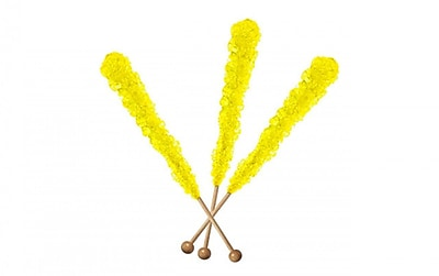 Yellow Rock Candy Sticks, 12 Count