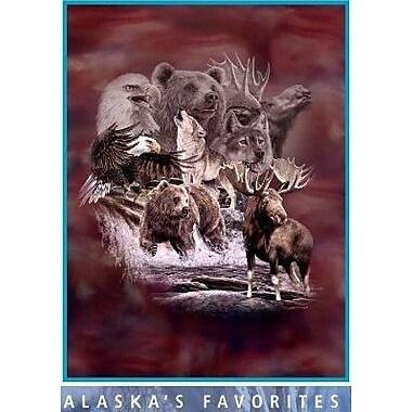 Ben and Jonah Royal Plush Extra Heavy Queen Size Alaskan Animals Blanket