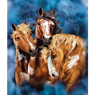 Ben and Jonah Royal Plush Extra Heavy Queen Size Wild Horses Blanket