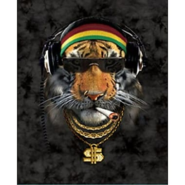 Ben and Jonah Far Out Extra Heavy Queen Size Rasta Tiger Blanket