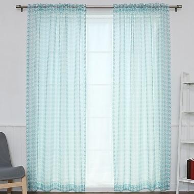 Best Home Fashion, Inc. Curtain Panels (Set of 2); Sky Blue