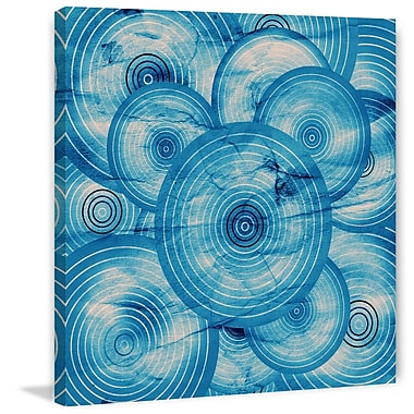 Marmont Hill 'Spiroblue' Painting Print on Wrapped Canvas; 24'' H x 24'' W x 1.5'' D