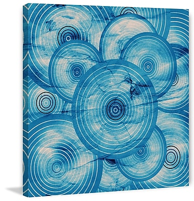 Marmont Hill 'Spiroblue' Painting Print on Wrapped Canvas; 48'' H x 48'' W x 1.5'' D