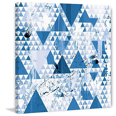 Marmont Hill 'Blue Diamonds' Painting Print on Wrapped Canvas; 32'' H x 32'' W x 1.5'' D