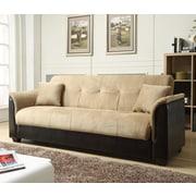 NathanielHome Convertible Sofa; Brown