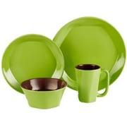ColorUs China Glycon 16 Piece Dinnerware Set; Green