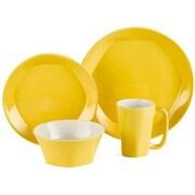 ColorUs China Glycon 16 Piece Dinnerware Set; Yellow