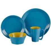 ColorUs China Glycon 16 Piece Dinnerware Set; Blue