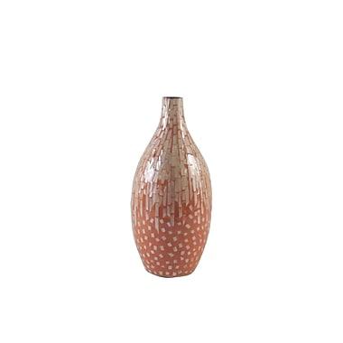 Firefly Home Collection Ceramic Vase; Orange