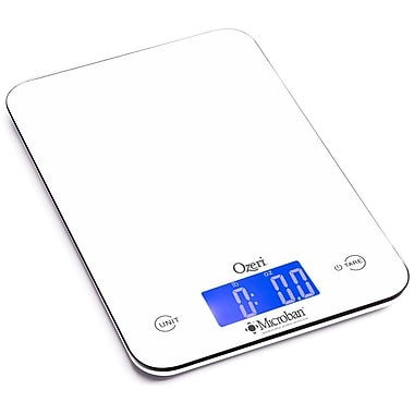 Ozeri Touch II 18 lbs Digital Kitchen Scale, w/ Microban Antimicrobial Product Protection