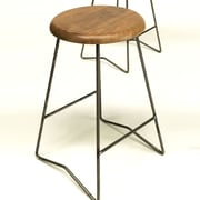 Gingko Home Furnishings 25.5'' Bar Stool (Set of 2); Natural Walnut