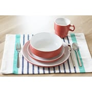 Baum Stacked 16 Piece Dinnerware Set; Red