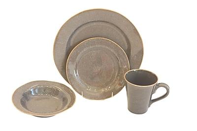 Baum Canvas 16 Piece Dinnerware Set; Taupe