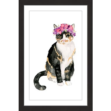 Marmont Hill 'Pretty Kitty' by Dena Cooper Framed Painting Print; 36'' H x 24'' W x 1.5'' D