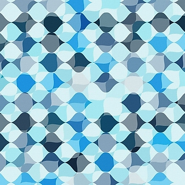 Marmont Hill 'Tic Tac Blue' Painting Print on Wrapped Canvas; 32'' H x 32'' W x 1.5'' D