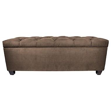 MJLFurniture Obsession Upholstered Storage Bedroom Bench; Brownstone