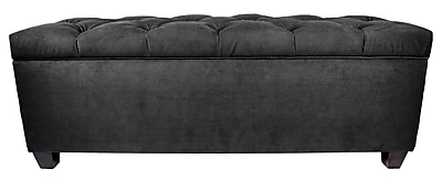 MJLFurniture Obsession Upholstered Storage Bench; Charcoal