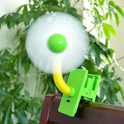 Koolulu Mini Portable USB Rechargeable Battery Clip Fan; Green WYF078279202832
