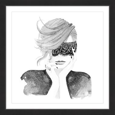 Marmont Hill 'Lace Mask' by Dena Cooper Framed Painting Print; 18'' H x 18'' W x 1.5'' D
