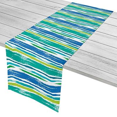 Island Girl Home Modern Coastal Lines Table Runner; 16'' W x 72'' L