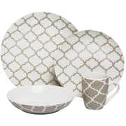 Melange 32 Piece Harmony Coupe Porcelain Dinnerware Set