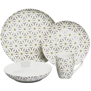 Melange 32 Piece Romance Coupe Porcelain Dinnerware Set