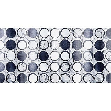 Marmont Hill 'Aesthetic Circles' Painting Print on Wrapped Canvas; 22.5'' H x 45'' W x 1.5'' D