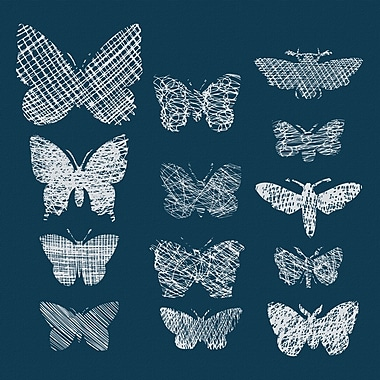 Marmont Hill 'Patterned Moths' Painting Print on Wrapped Canvas; 48'' H x 48'' W x 1.5'' D