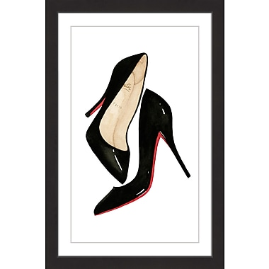 Marmont Hill 'Red Soled Shoes' by Dena Cooper Framed Painting Print; 18'' H x 12'' W x 1.5'' D