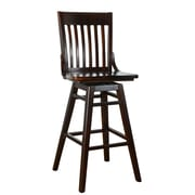 Benkel Seating 30'' Swivel Bar Stool; Walnut
