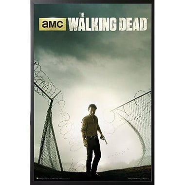 Buy Art For Less 'The Walking Dead Poster Season 4 Key Collectible' Framed Graphic Art