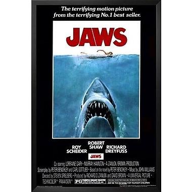 Buy Art For Less 'Jaws - Steven Speilberg - Movie' Framed Graphic Art