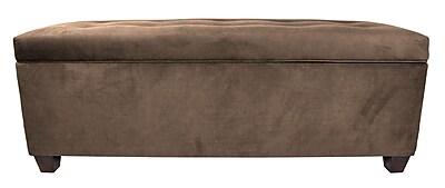 MJLFurniture Obsession Upholstered Storage Bench; Brownstone