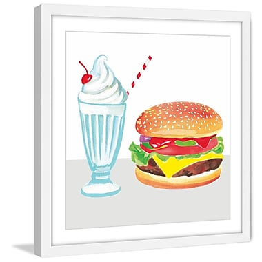 Marmont Hill 'Burger & Shake' by Molly Rosner Framed Painting Print; 40 H x 40 W x 1.5 D