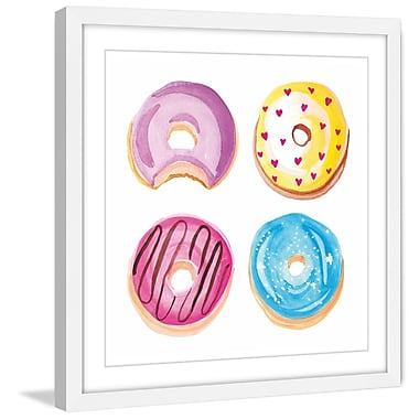 Marmont Hill 'Donuts' by Molly Rosner Framed Painting Print; 40 H x 40 W x 1.5 D