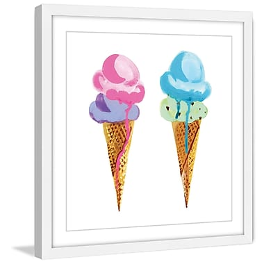 Marmont Hill 'Ice Cream' by Molly Rosner Framed Painting Print; 12 H x 12 W x 1.5 D